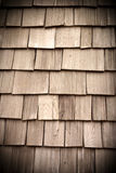 wood roof tile Stock Photography