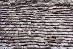 Wood roofing. Close up wood roofing pattern detail Stock Photo