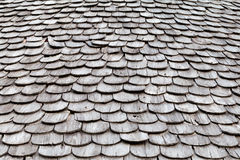 Wood roofing pattern detail. Background Stock Photo