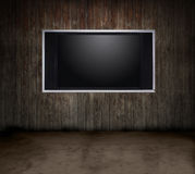 Wood room TV Royalty Free Stock Images