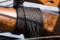 Wood and Rope Royalty Free Stock Photography