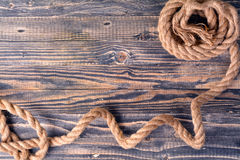 Wood with rope border Stock Image