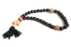 Wood rosary Royalty Free Stock Image