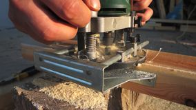 Wood router stock video