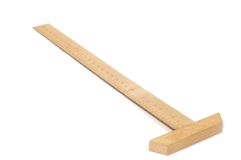 Wood ruler Royalty Free Stock Photos