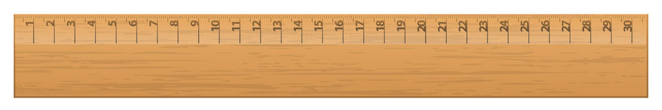 Wood ruler Royalty Free Stock Photo