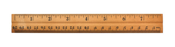 A wood ruler Royalty Free Stock Images