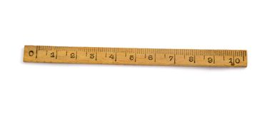 Wood Ruler Stock Photography