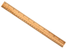A wood ruler isolated Stock Images