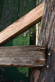 Wood with rusted nails. Royalty Free Stock Photography