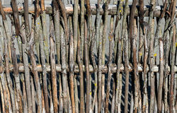 Wood rustic fence Stock Photo