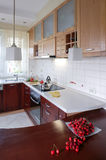 Wood`s kitchen Royalty Free Stock Photos
