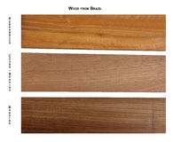 Wood samples from Brazil Stock Photo