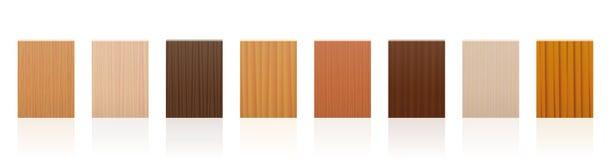 Wood Samples Plates Set Stock Photos