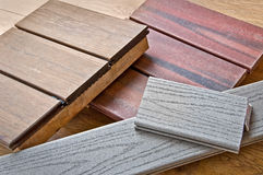 Wood samples Stock Photo