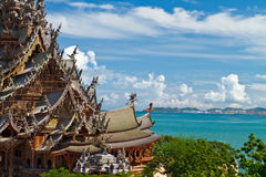The Wood Sanctuary of Truth in Pattaya Royalty Free Stock Images