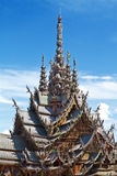 The Wood Sanctuary of Truth in Pattaya Royalty Free Stock Photography