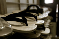 Wood sandals Royalty Free Stock Photography
