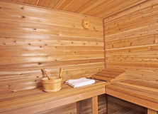 Wood sauna Stock Photography