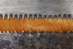 Wood and saw blades, industrial grunge abstract background Stock Image