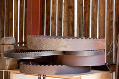 Wood Saw Circular Blades Rusty Pile Royalty Free Stock Image
