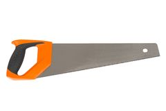 Wood saw with orange handle Stock Photography