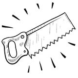 Wood saw sketch Stock Photography