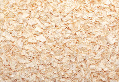 Wood sawdust texture material background closeup. Top view Royalty Free Stock Photos