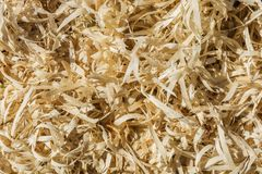The wood sawdust. Wood sawdust texture material background closeup Royalty Free Stock Photography