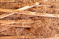 Wood and sawdust Royalty Free Stock Images
