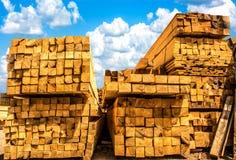 Wood, Sawn Timber Stock Image