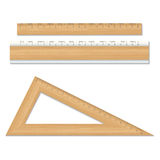 Wood school rulers isolated on white background. Stock Photography