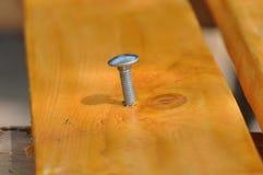 Wood screw. Macro detail of a wood screw Stock Image