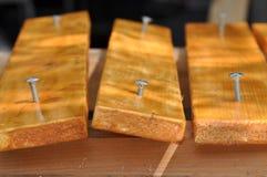 Wood screw. Macro detail of a wood screw Stock Photo