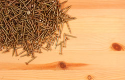 Wood with screws Royalty Free Stock Photography