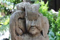 Wood sculpture Royalty Free Stock Photos