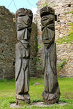 Wood Sculpture in Estonia Royalty Free Stock Photography