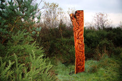 Wood Sculpture. Stock Images