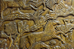 Wood sculpture Stock Images