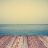 Wood sea Indigo color and soft wave with vintage Royalty Free Stock Image