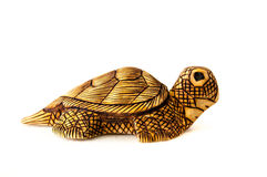 Wood sea turtle Stock Photos