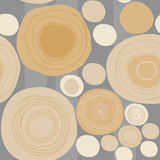 Wood seamless pattern. Round crosscuts on gray background Royalty Free Stock Photos