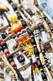 Wood and seashell bead necklaces Royalty Free Stock Photography
