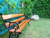Wood Seat Arkivfoto