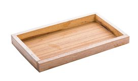 Wood Serving Tray, Kitchen Wooden Tray, Bread And Fruit Cutting royalty free stock image