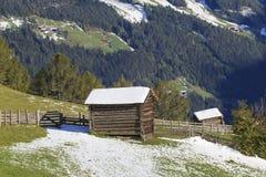 Wood shacks Stock Image