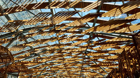 Wood shades roof Stock Photos