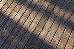 Wood and shadow Royalty Free Stock Photography