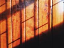Wood. Shadow wall royalty free stock image