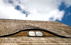 Wood Shake Roof Stock Images